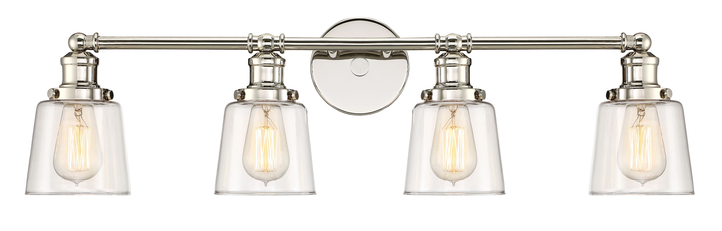 "Quoizel UNI8604 Union 4 Light 32"" Wide Bathroom Vanity Light Polished Sale $239.99 ITEM: bci3006857 ID#:UNI8604PK UPC: 611728271360 :"