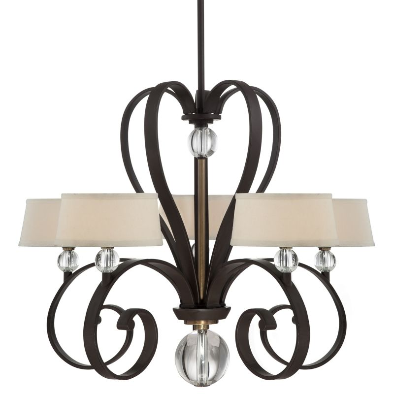 "Quoizel UPMM5005 Uptown Madison Manor 5 Light 29"" Wide Chandelier with"
