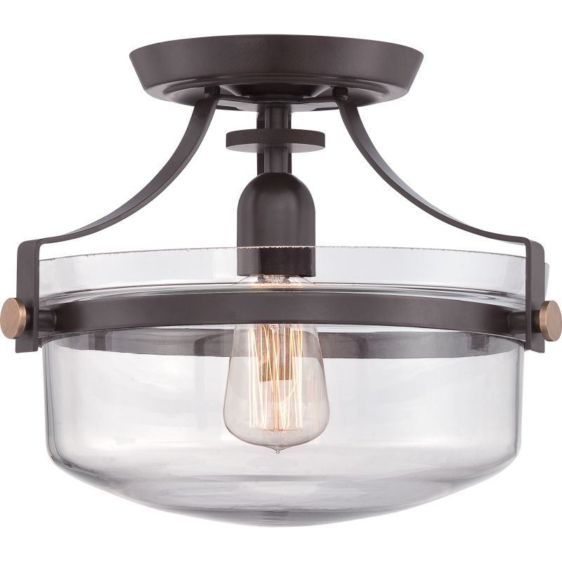 Quoizel UPPS1713 Uptown Penn Station 1 Light Semi-Flush Ceiling Sale $159.99 ITEM: bci2621291 ID#:UPPS1713WT UPC: 611728214503 :