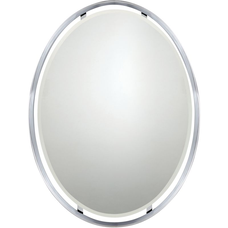 "Quoizel UPRZ43426 Uptown Ritz 34"" x 26"" Oval Decorative Mirror"