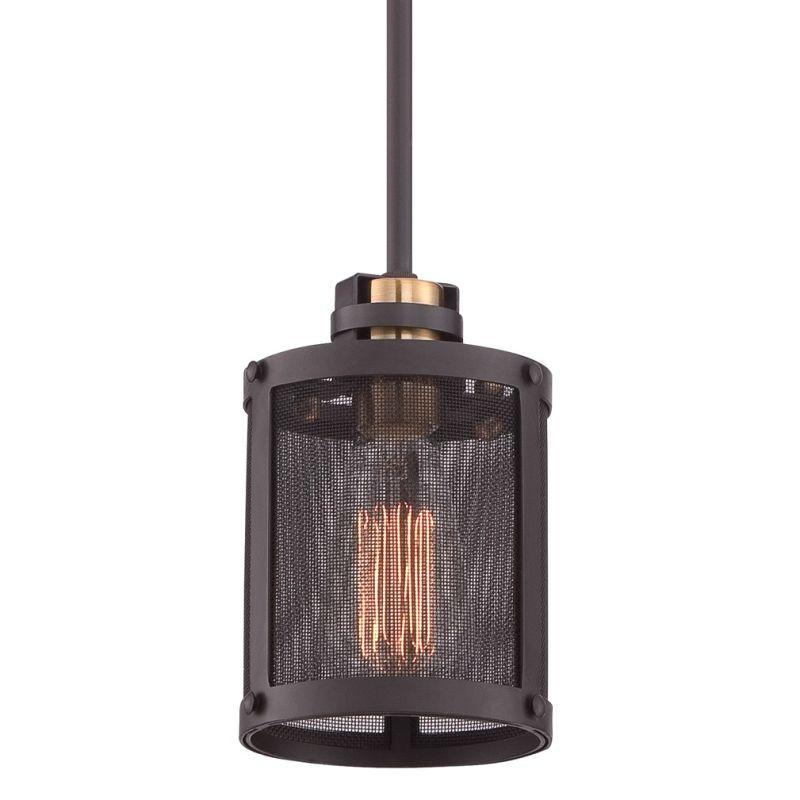 Quoizel UST1505 Union Station 1 Light Mini Pendant with Metal Mesh