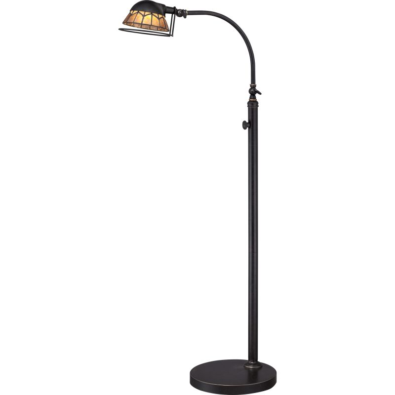 "Quoizel VVWH9348 Whitney LED 49"" Tall Swing Arm Floor Lamp with Amber"