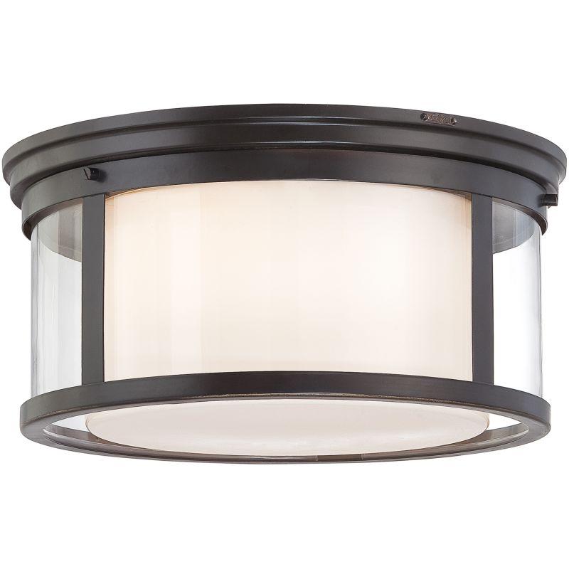 "Quoizel WLS1615 Wilson 3 Light 15"" Wide Flush Mount Ceiling Fixture"