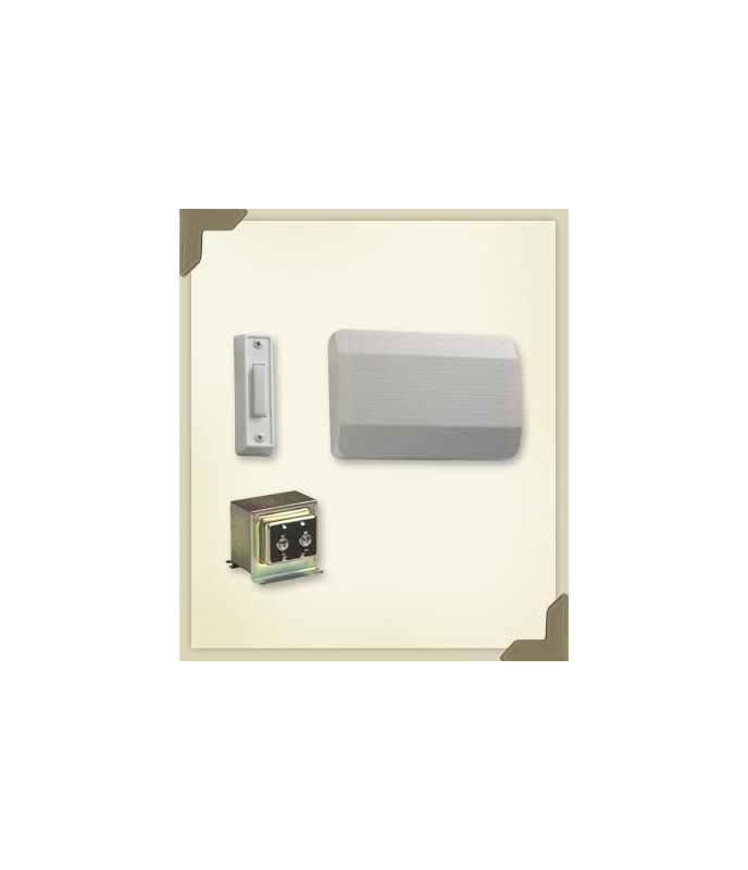 Quorum International 101 1 6 White Single Story Front Door Chime Kit With W