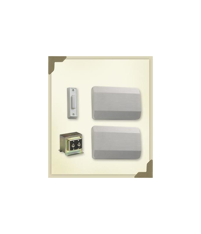 Quorum International 102-1 Two Story / Front Door Chime Kit with White