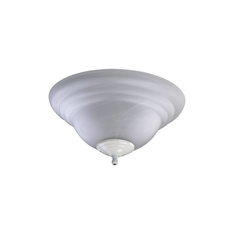 Quorum International 1133 2 Light Fan Light Kit with Glass Bowl Shade