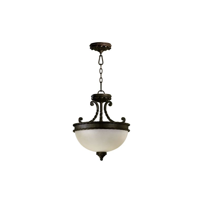 Quorum International 2886-15 Two Light Dual Mount Ceiling Fixture from