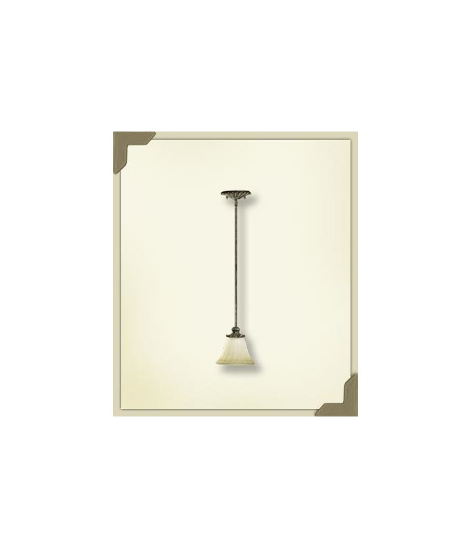 Quorum International 3100 Barcelona 1 Light Mini Pendant Mystic Silver
