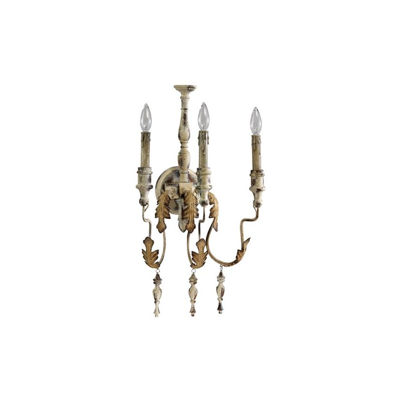 Quorum International 5406-3 Salento 3 Light Wall Sconce Persian White