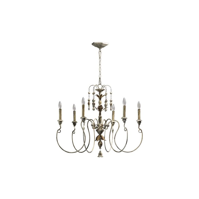 Quorum International 6006-6 Salento 6 Light 1 Tier Chandelier Persian