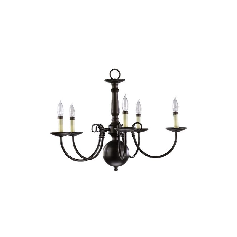 Quorum International 6007-5 5 Light 1 Tier Candle Style Chandelier