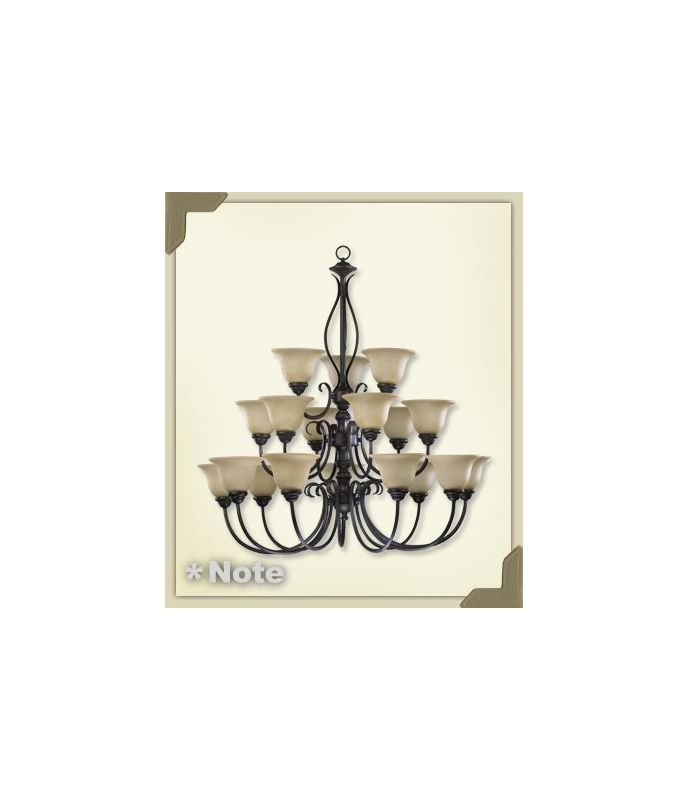 Quorum International 6010-18 Spencer 18 Light 3 Tier Chandelier Mystic