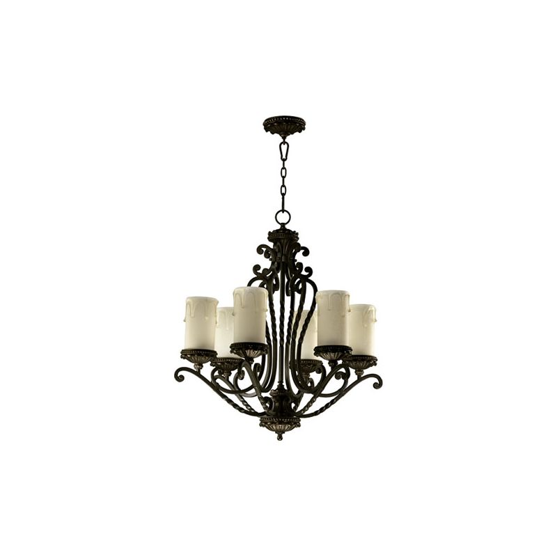 Quorum International 6086-6 Alameda 6 Light 1 Tier Chandelier Oiled