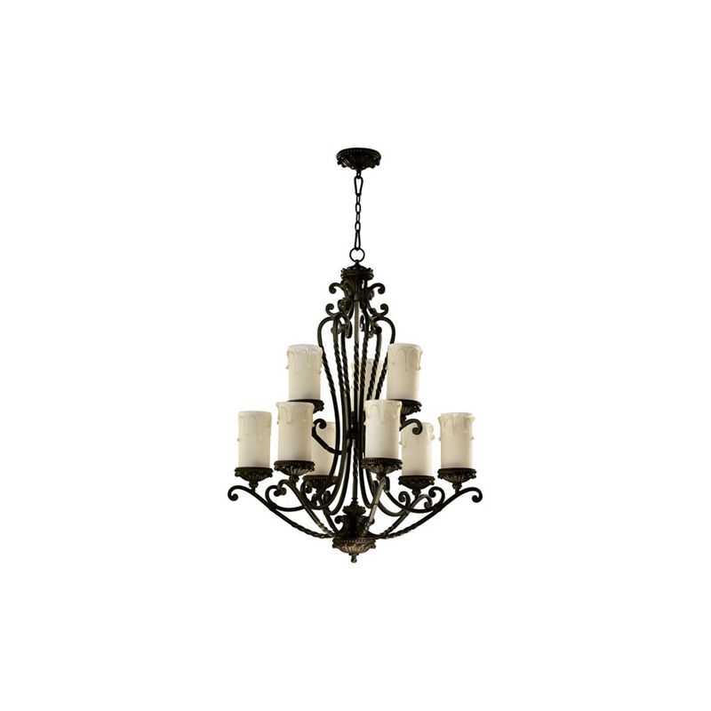 Quorum International 6086-9 Alameda 9 Light 2 Tier Chandelier Oiled Sale $798.00 ITEM: bci1350020 ID#:6086-9-86 :