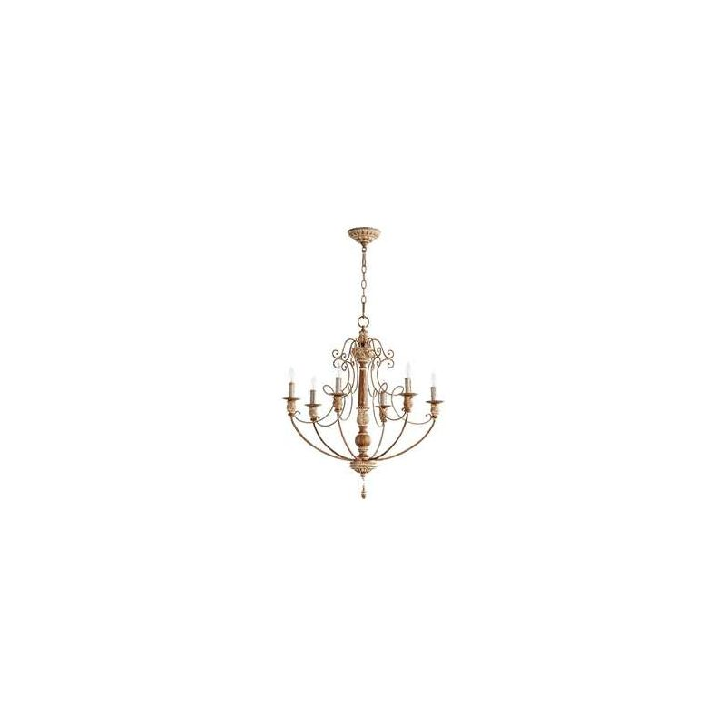 Quorum International 6106-6 Salento 6 Light 1 Tier Chandelier French