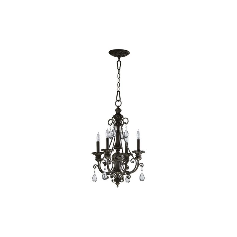 Quorum International 6132-4 Fulton 4 Light 1 Tier Mini Chandelier
