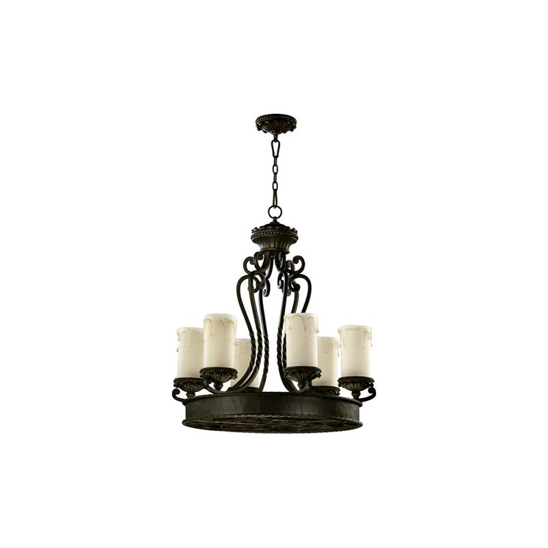 Quorum International 6286-6 Alameda 6 Light 1 Tier Chandelier Oiled