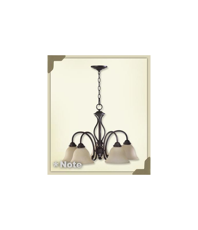 Quorum International SO 6410-5 5 Light Chandelier from the Spencer