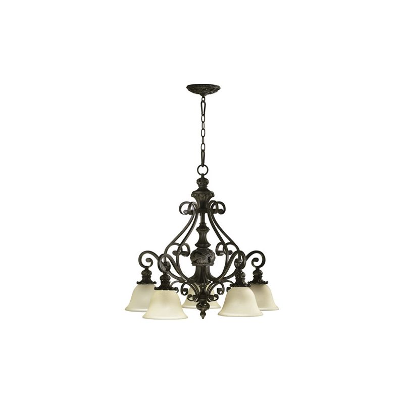 Quorum International 6432-5 Five Light Chandelier from the Fulton