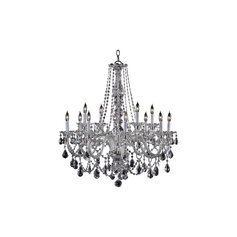 Quorum International 664-12 Bohemian Marien 12 Light 2 Tier Chandelier