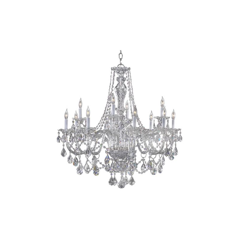 Quorum International 665-12 Bohemian Marien 12 Light 2 Tier Chandelier