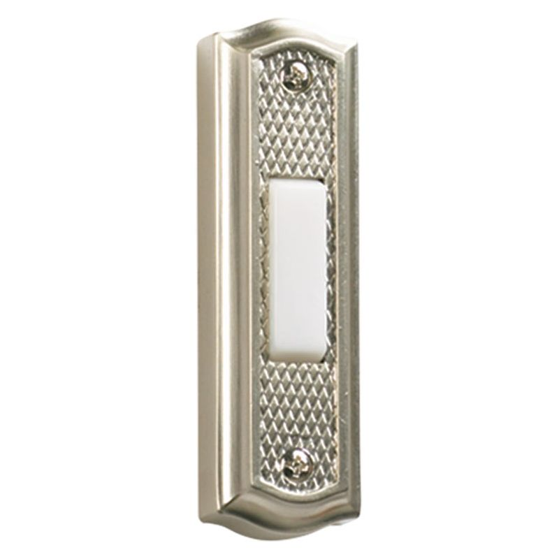 "Quorum International 7-301 3.5"" x 1"" Zinc Door Chime Button Satin"
