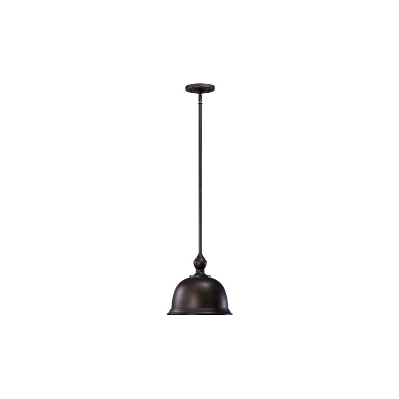 Quorum International 803-12-86 Oiled Bronze Industrial Mooers Pendant