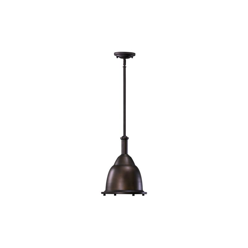 Quorum International 805-10-86 Oiled Bronze Industrial Mooers Pendant