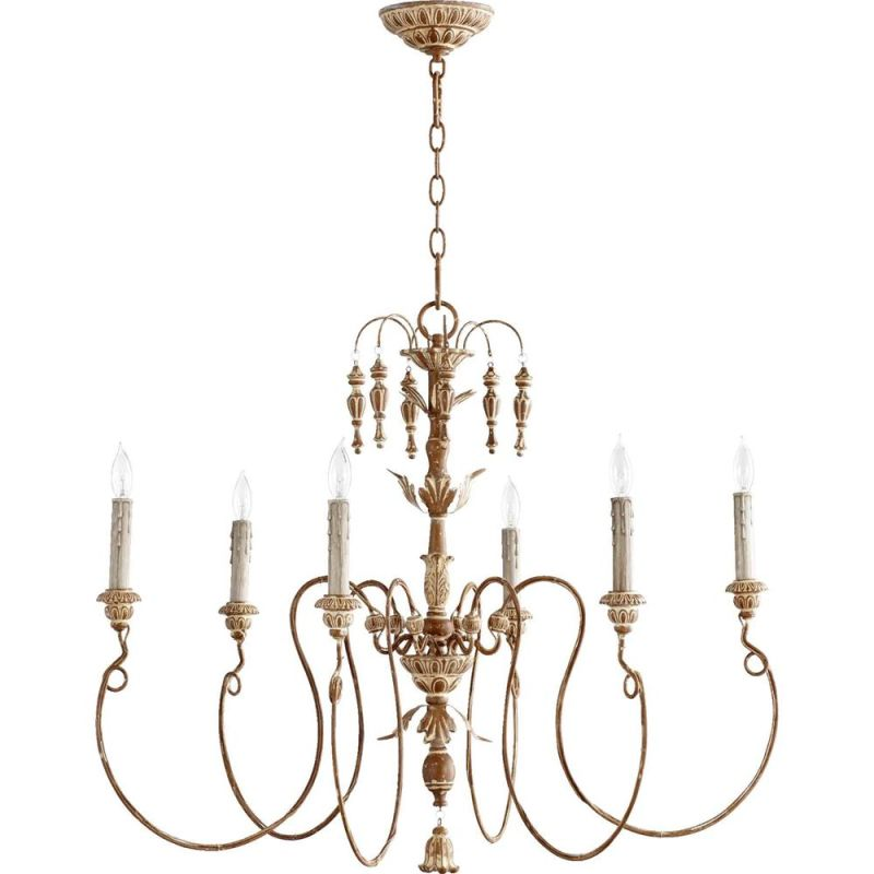 Quorum International 6006-6 Salento 6 Light 1 Tier Chandelier French