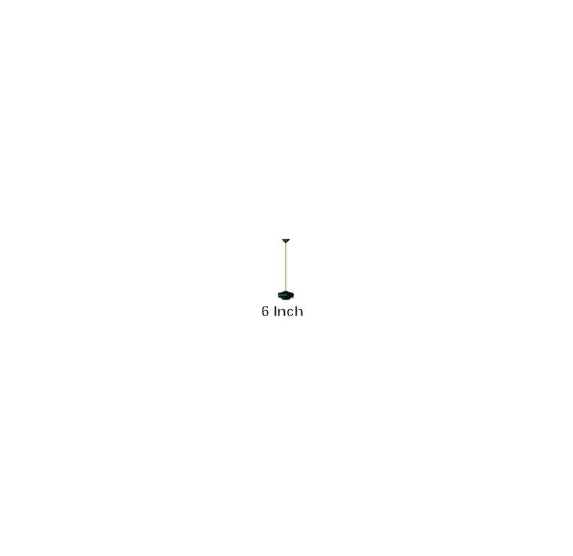 "Quorum International Q6-06 6"" Ceiling Fan Downrod Matte Black Ceiling"
