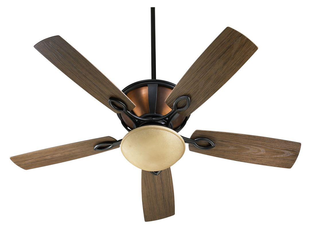 "Quorum International 141525 52"" Outdoor 5-Blade Patio Ceiling Fan for"