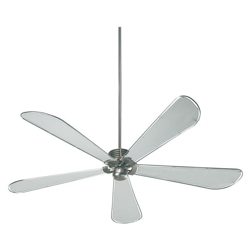 "Quorum International 159725 Dragonfly Damp Rated 72"" Patio Fan Satin"