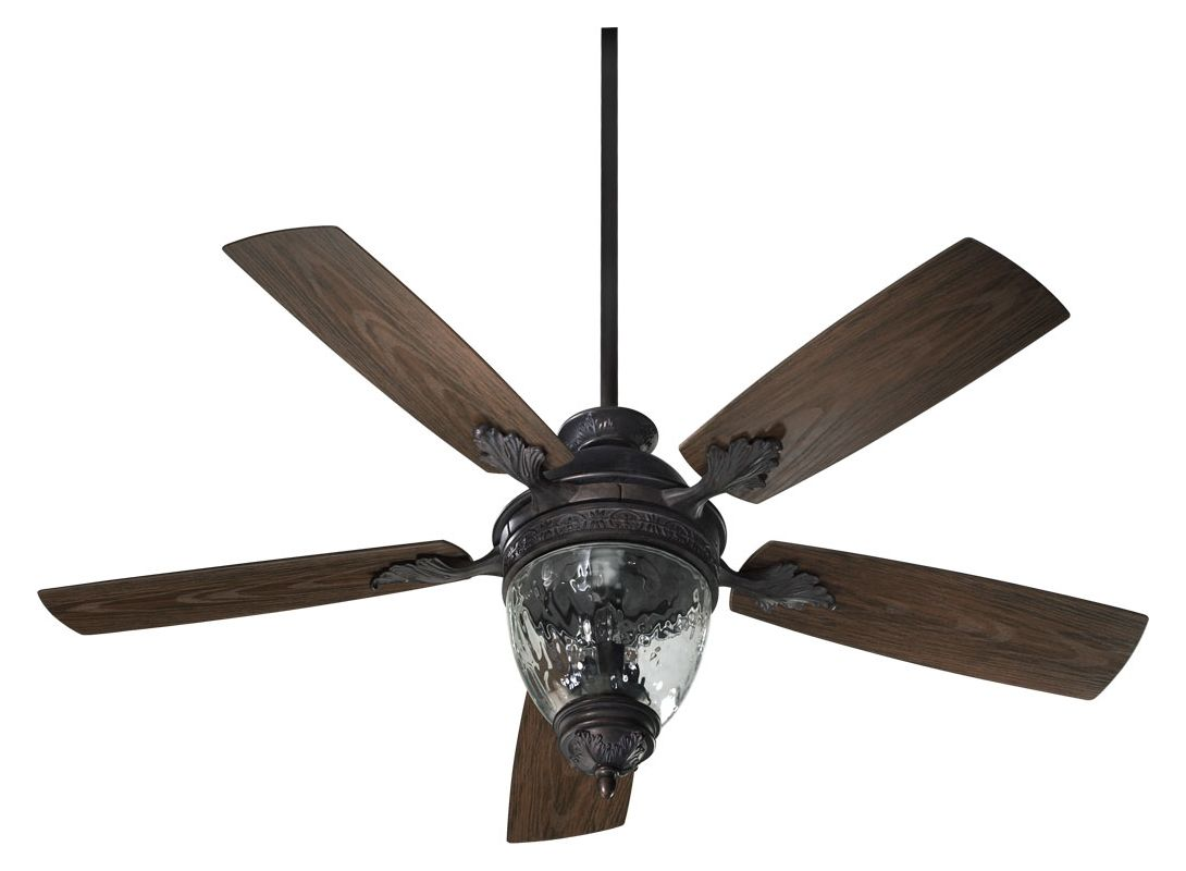 Quorum International 174525 5 Blade 52&quote 3 Light Outdoor Ceiling Fan �