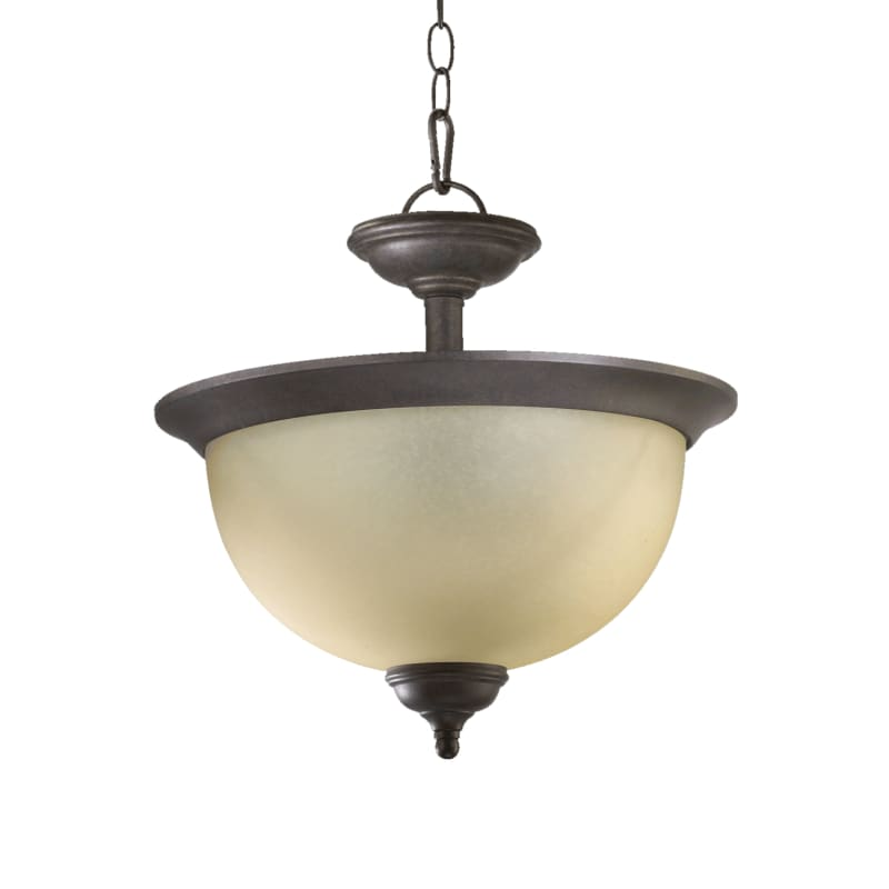 Quorum International 2135 Three Light Dual Mount Ceiling Fixture from