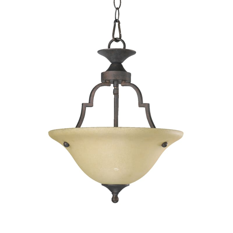 Quorum International 215 Two Light Dual Mount Ceiling Fixture from the