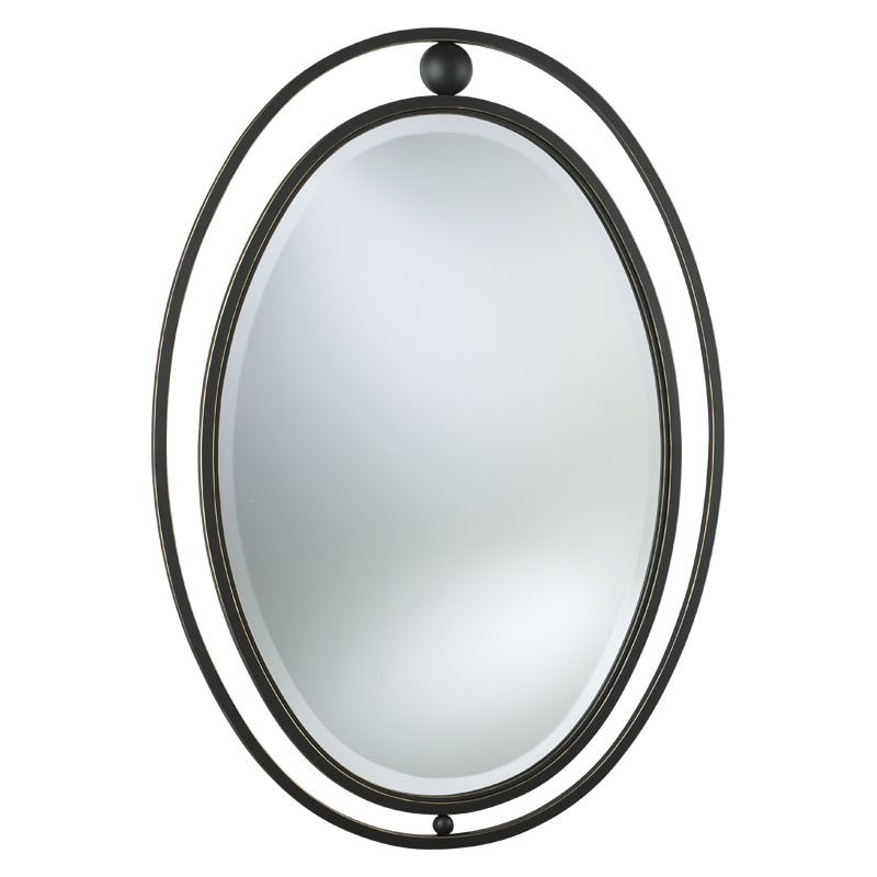 Quorum International Q23-99 Rounded Mirror from the Hemisphere