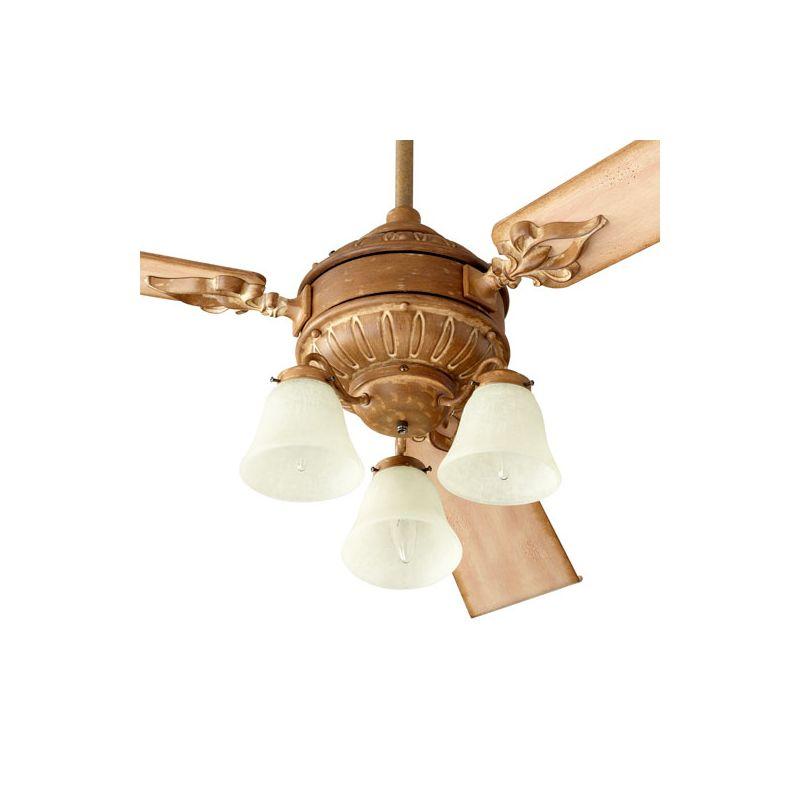 Quorum International 2360 Brewster 3 Bulb Fan Light Kit French Umber