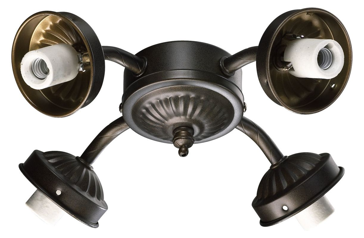 Quorum International 2444-CFL 4 Bulb Fluorescent Fan Light Kit Oiled