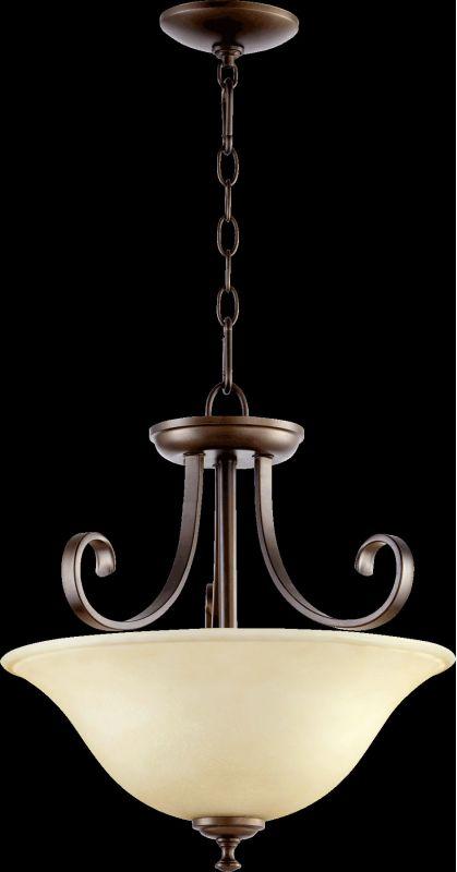 Quorum International 2753-18 Celesta 2 Light Pendant Oiled Bronze