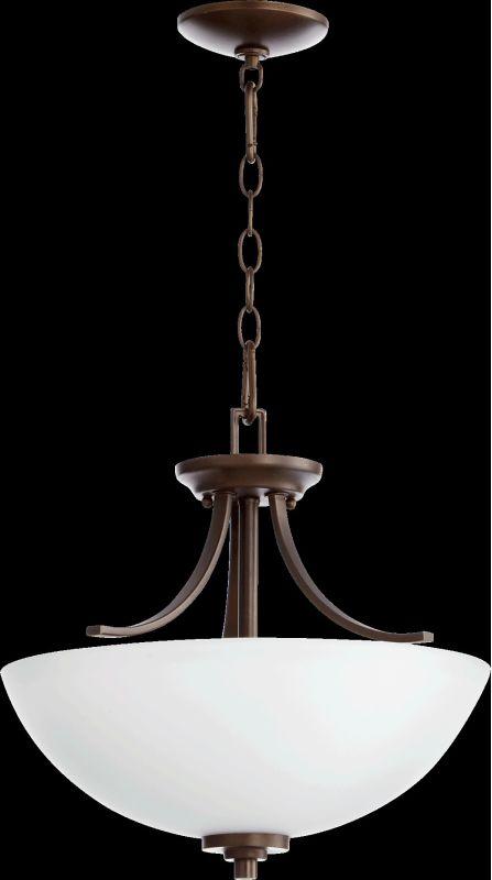 Quorum International 2760-16 Reyes 3 Light Pendant Oiled Bronze Indoor