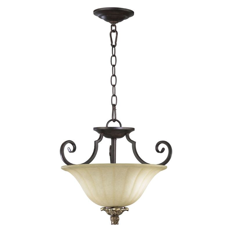 Quorum International 2801-15 Two Light Dual Mount Ceiling Fixture from