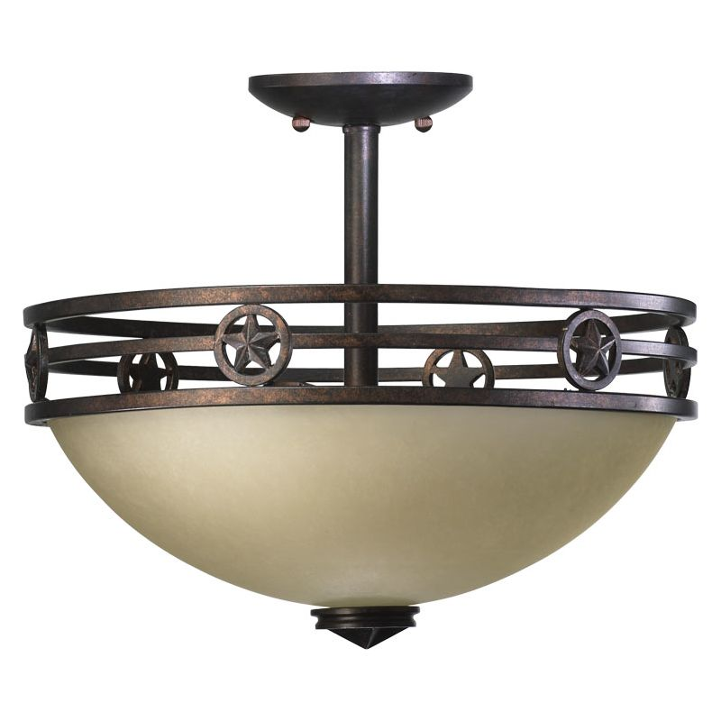 Quorum International 2828-15 Dual Mount Ceiling Fixture from the Lone