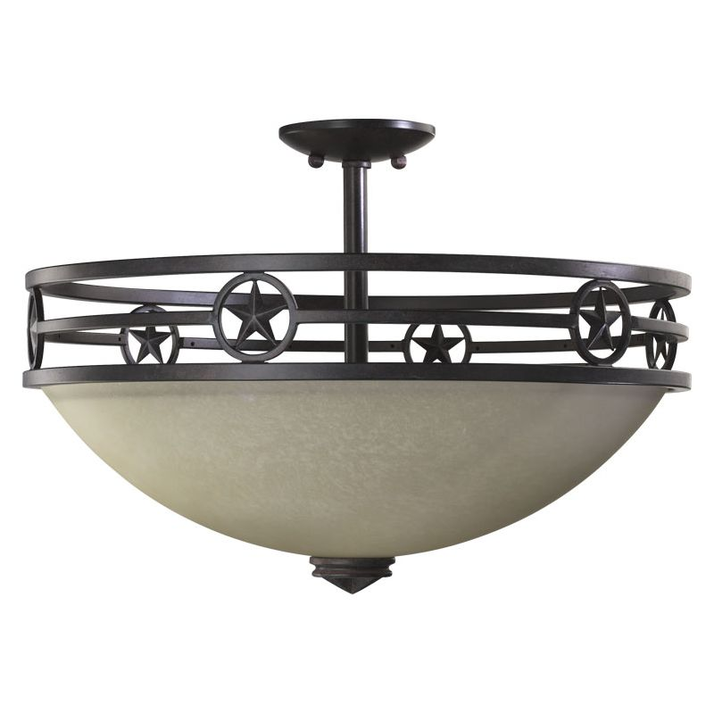 Quorum International 2828-21 Dual Mount Ceiling Fixture from the Lone