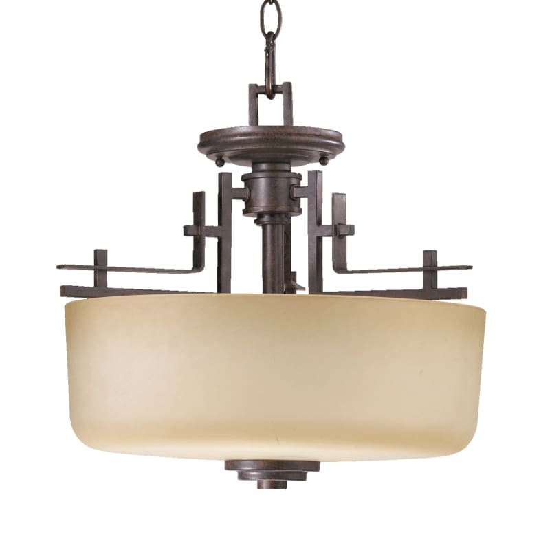 Quorum International 2833-16 Two Light Dual Mount Ceiling Fixture from