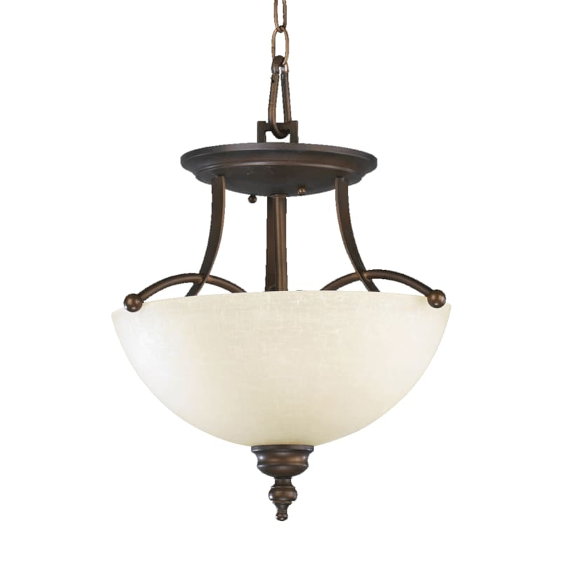 Quorum International 2877-14 Two Light Dual Mount Ceiling Fixture from