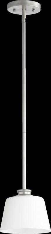 Quorum International 3002 Friedman 1 Light Mini Pendant Classic Nickel