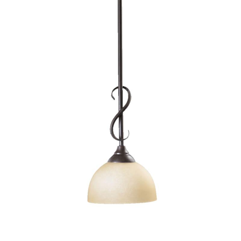 Quorum International 3008 Powell 1 Light Mini Pendant Toasted Sienna Sale $71.50 ITEM: bci729431 ID#:3008-44 :