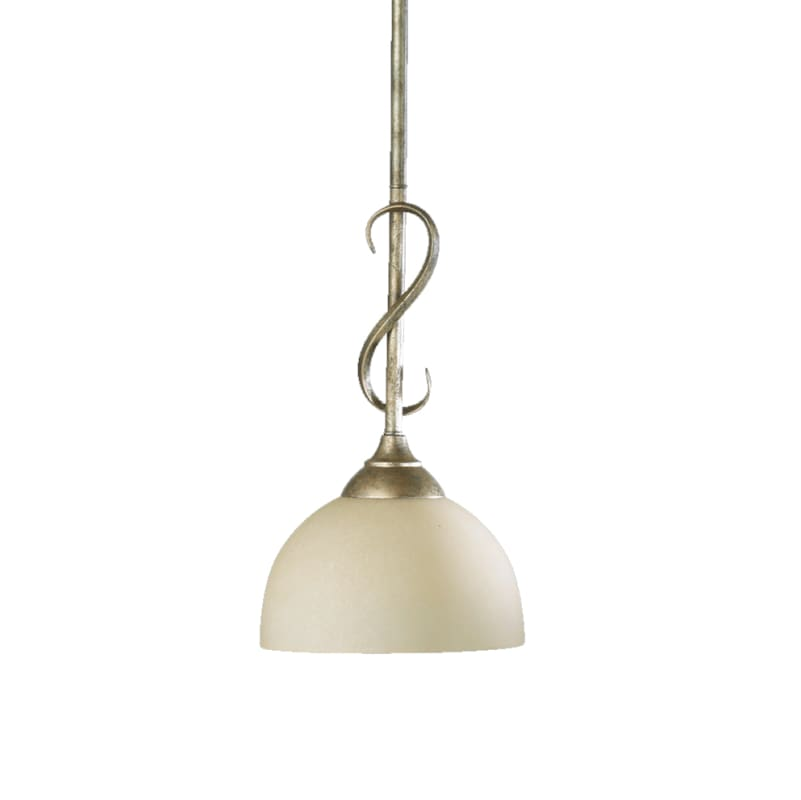 Quorum International 3008 Powell 1 Light Mini Pendant Mystic Silver
