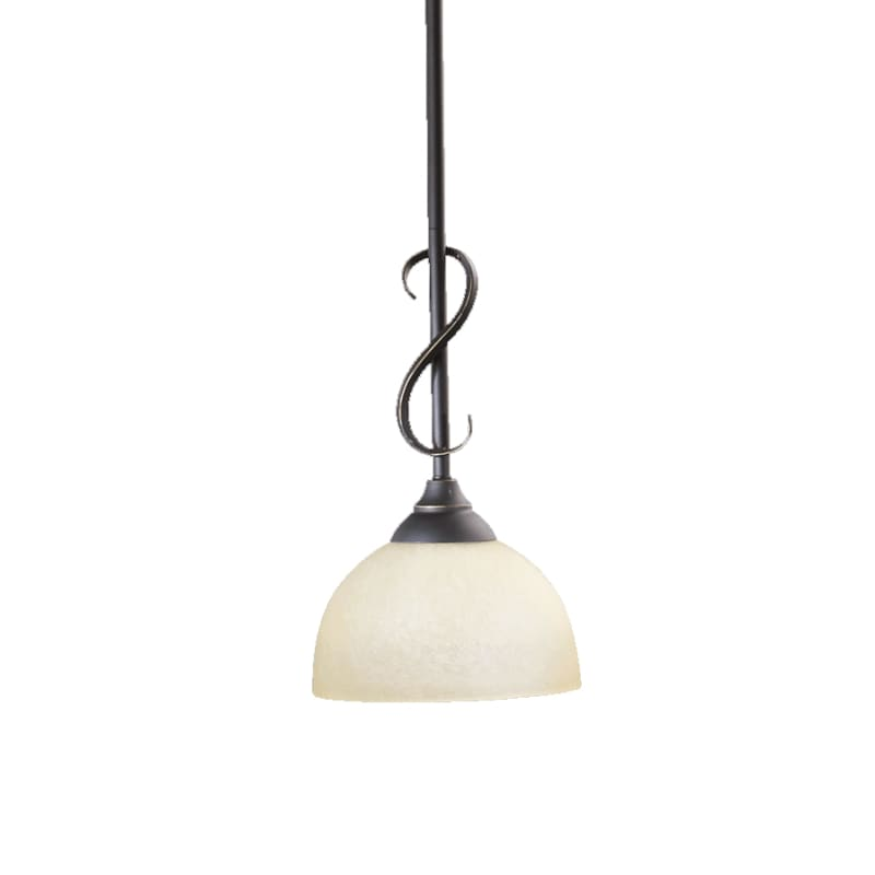 Quorum International 3008 Powell 1 Light Mini Pendant Old World Indoor