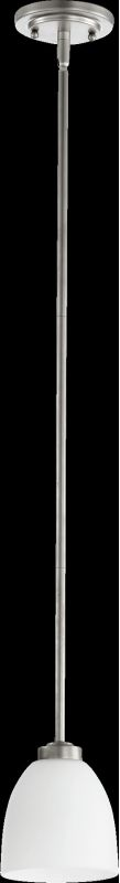Quorum International 3060 Reyes 1 Light Mini Pendant Classic Nickel